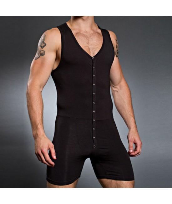 Fitness juoda vyriškas triko