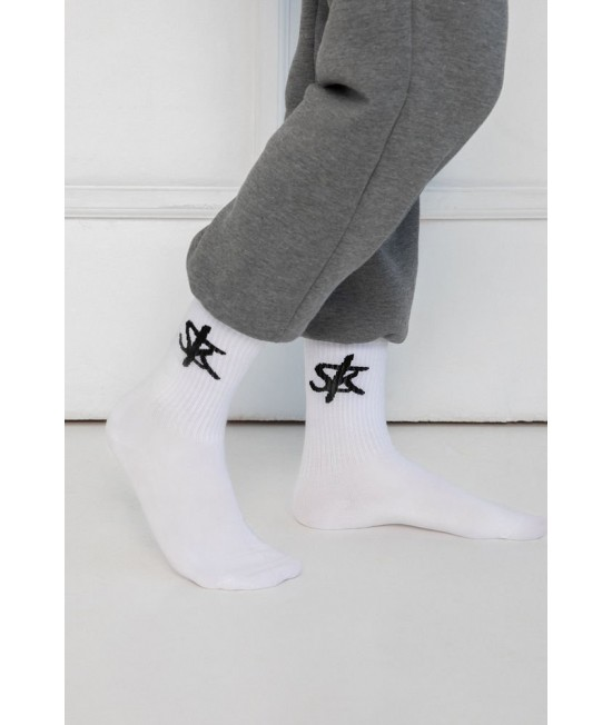 Kojinės Sofa Killer su juodu SK logotipu 76310