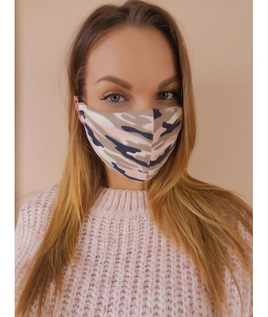Veido kaukė Sofa Killer pink CAMO 74133