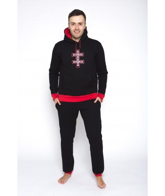 Sportinis kostiumas Sofa Killer juodas su tautinėmis juostomis