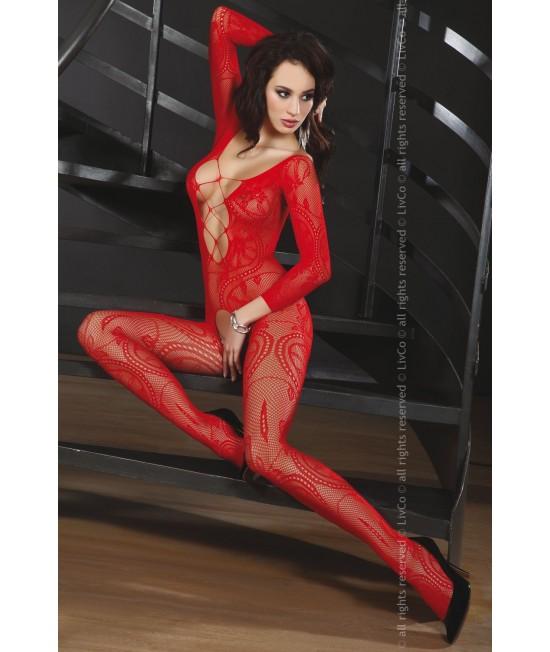 Viso kūno kojinė Livia Corsetti ZITA raudonos spalvos