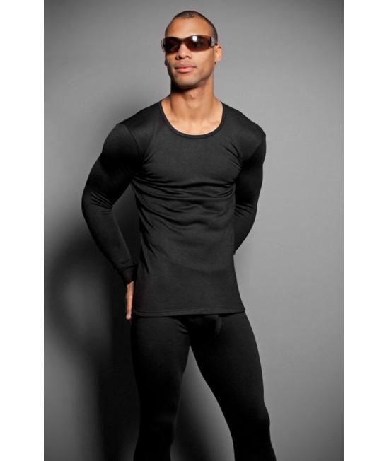 Vyriški juodi termo marškniai ilgom rankovėm